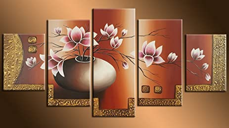 Amazon Very Artistic Hand Painted On Canvas Hot Sale Beautiful