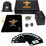 144 cards Travel game set Accessories,Chinese Mahjong (Mah Jong, Mahjongg, Mah-Jongg, Mah Jongg, Majiang) Playing Cards…