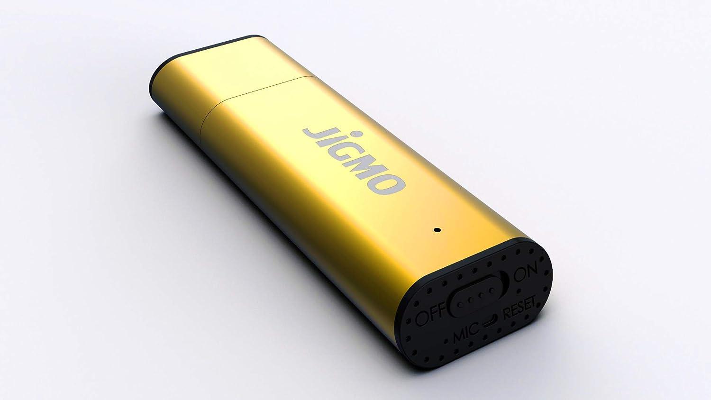 Registratore Audio Digitale Con Microfono – Dispositivo Di Registrazione Audio Ricaricabile / Penna USB / Fino a 48 Ore Archiviazione Audio, 384 kbps e 8 GB di Memoria / Voce Attivata / di JiGMO (Nero) Con Cordino e Ebook, Non Perdere Mai Un'altra Parola!