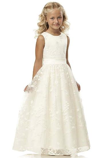 ff025711f88b5 Babyonlinedress Robe de Fille Enfant de Mariage d honneur Soirée Princesse  Longue Col Rond en
