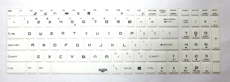 BingoBuy US Layout Keyboard Protector Cover Skin for MSI GT76 GP75 GF75 GE65 GP65 Clear