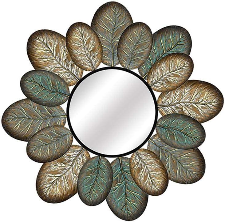 LWY Pared Espejo de Pared Espejo de Sol decoración Colgante de la luz del Restaurante Hierro Forjado Decorativo Espejo Fondo de la Pared J4/15