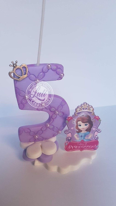 Vela decorada porcelana fría Inspirada en Princesa Sofia ...