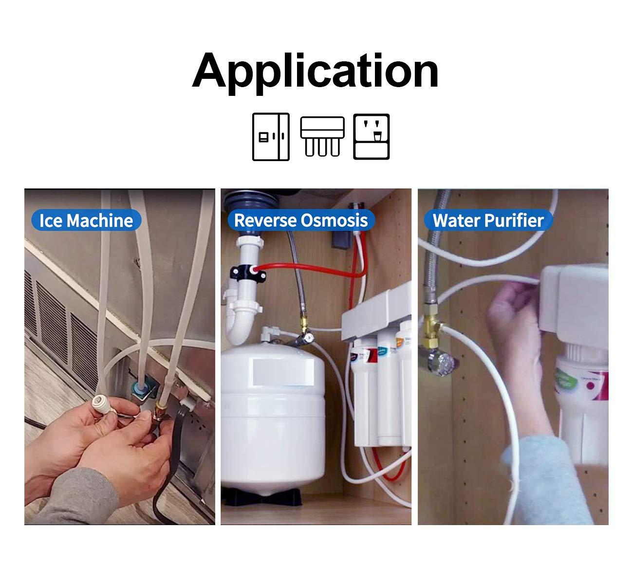Tubo de suministro de agua de 15 m + kit de conector para nevera ...