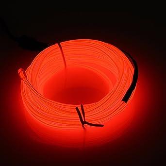 5M EL Wire,SOLMORE EL Kabel Neon Leuchtschnur Beleuchtung für Partys ...