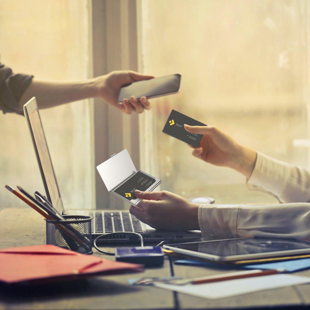 OZUAR 2 Pack Visitenkartenetuis Professioneller Kartenhalter f/ür Visitenkarten 9.3 x 6 x 0.7cm Edelstahl Aufbewahrungssch/ützer Taschen f/ür ID-Karten Kreditkarten