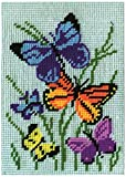 "Design Works Crafts 2569 Needlepoint Kit, Butterflies Galore, 5"" X 7"" Needlepoint Kit Butterflies Galore"