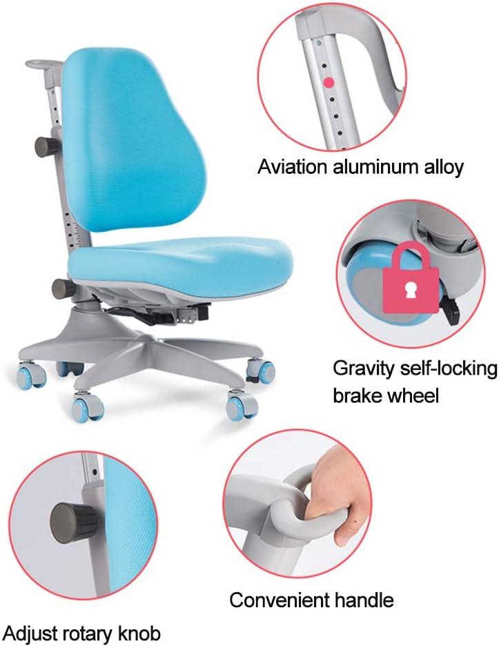 Chaises Chaise d\'étude pour enfants chaise de dossier pour étudiants chaise d\'écriture chaise élévatrice chaise d\'ordinateur (Color : Blue) Blue