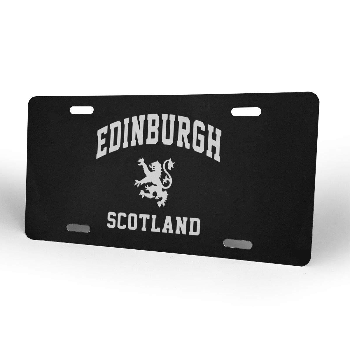 6 X 12 Inch mchmcgm Car Tag Etiqueta del Coche License Plate Personalized Aluminum License Plate Front License Plate Edinburgh Scottish