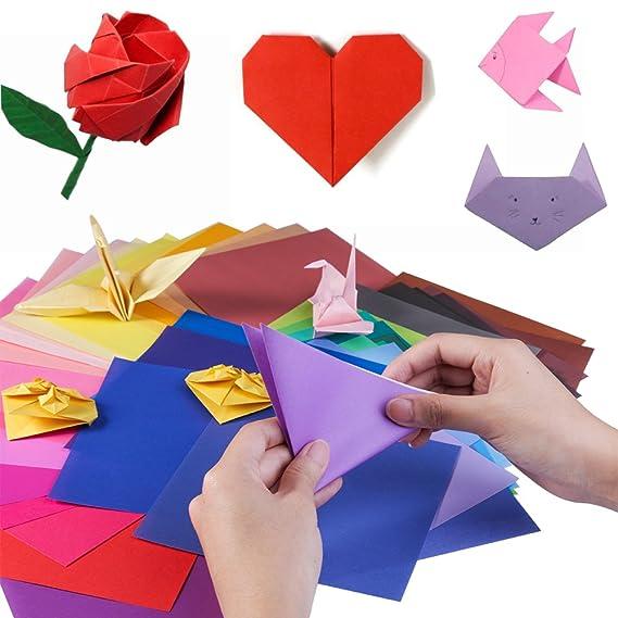 Origami Blaetter , Opret Origami Papier 100 Blatt 20 X 20 Cm Groß Origami Papier 50