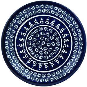 Blue Rose Polish Pottery Winter Nights Dinner Plate