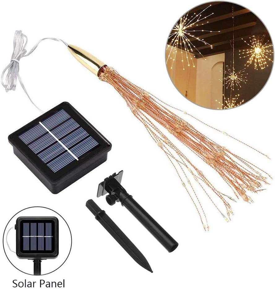 Not Incloud Powered with Remote for Patio,Gardens,Bedroom,Dancing or Party Decoration-Warm White Outdoor String Lights,Xoolover Fireworks Light Copper Wire Lights Starry Lights Battery