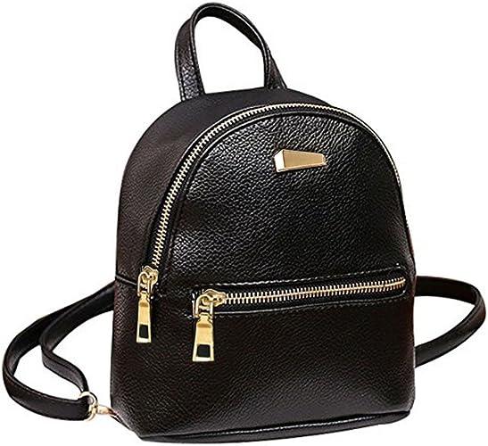 Donalworld, Mini Rucksack, Schulranzen, Reisetasche für Mädchen, niedliches Blumenmuster, PU Leder