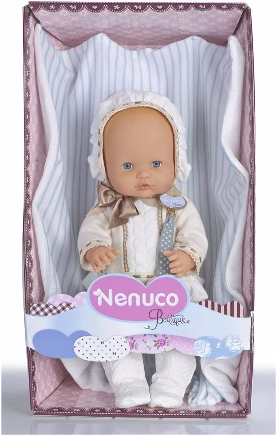 Amazon.es: Nenuco Boutique bebé-vestido, color blanco (Famosa ...