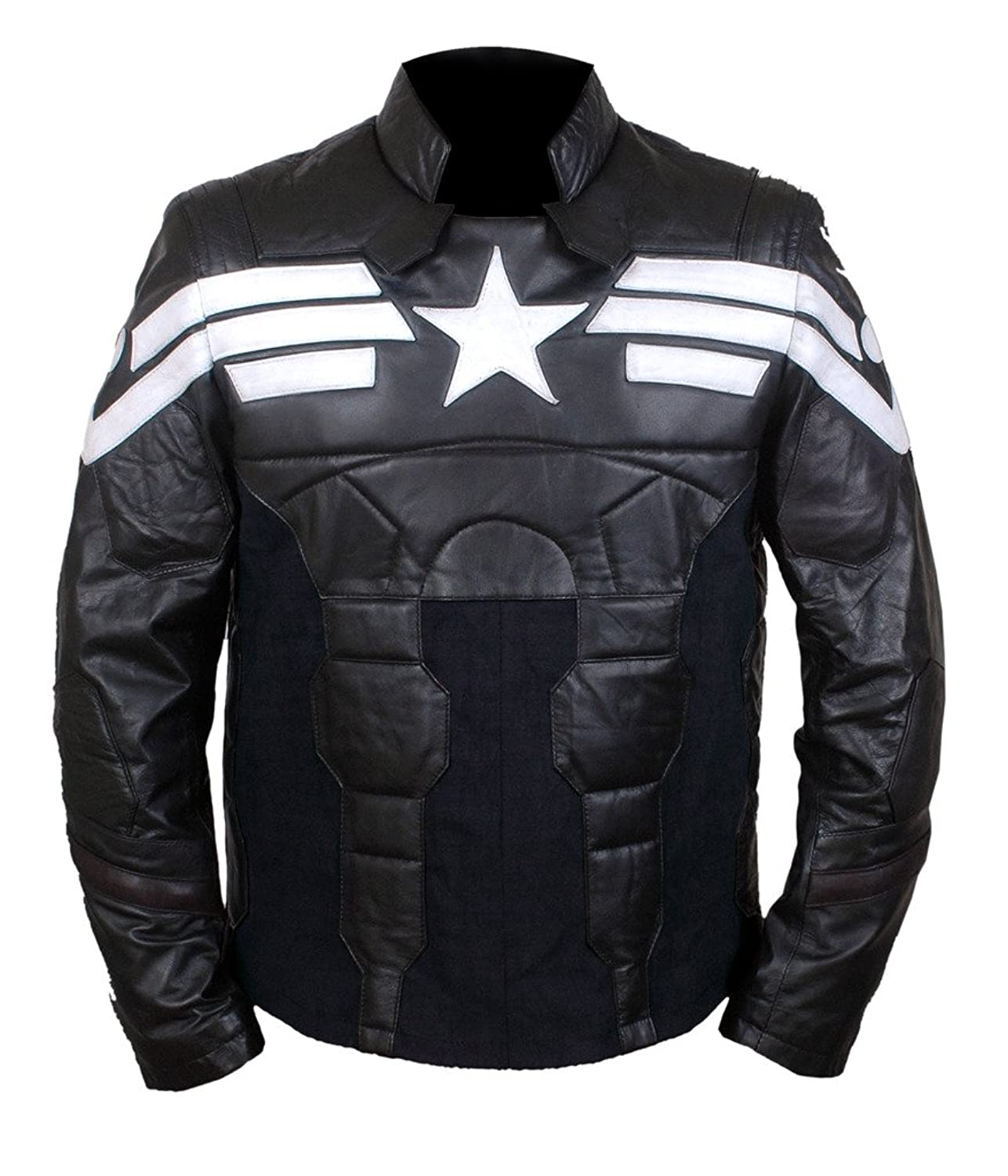 Men's Captain America Winter Soldier Pullover Faux Leather Jacket  - DeluxeAdultCostumes.com