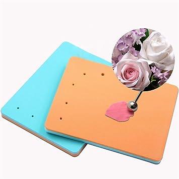 71a5c68344d Affe 5 agujeros forma esponja Pad flores de azúcar Fondant de espuma de  azúcar arte pastel Mat  Amazon.es  Hogar