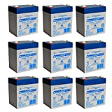 PS-1250 12V 5AH SLA Battery 12 VOLT F2 TERMINAL - 9 Pack