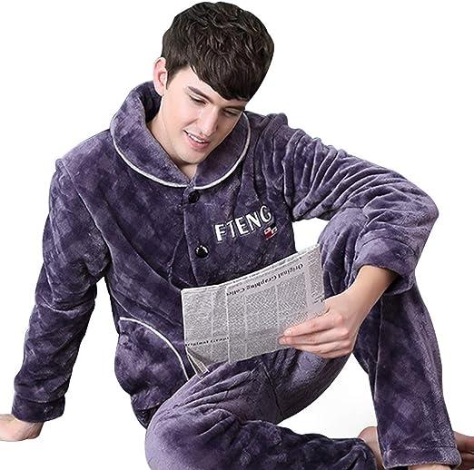 Pijamas Hombre otoño e Invierno. Franela de Terciopelo de ...
