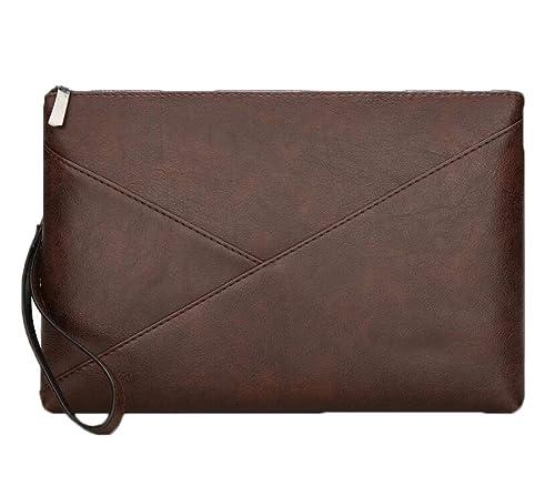 b1da03fe83 JSHFD Portafoglio uomo con pochette Portafoglio con cerniera Borsa da uomo  con pochette da polso (