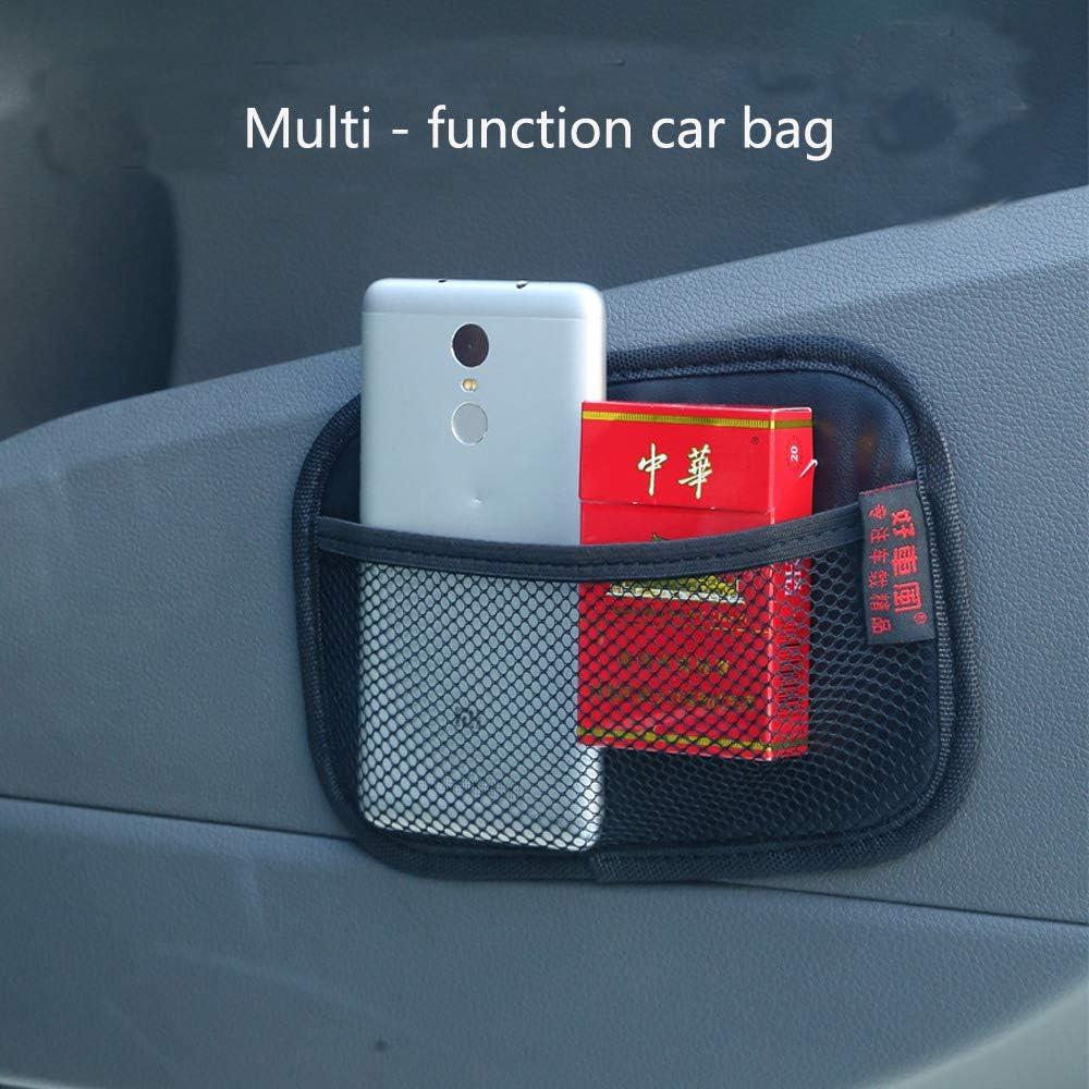 ZACOO Car Storage Net Bag Phone Holder Pocket Organizer Nylon Automotive Pockets 7.9x3.2