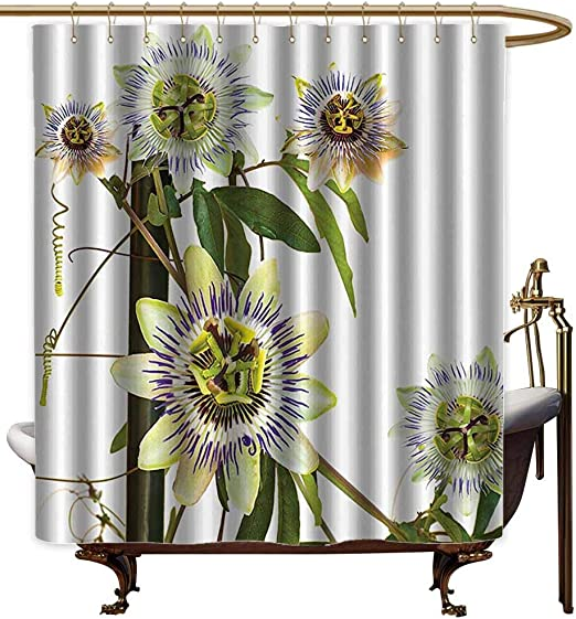 Amazon Com Godves Home Decor Shower Curtain Leaves And Plants