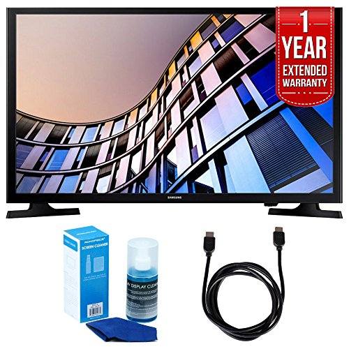 Samsung UN32M4500 32-Inch 720p Smart LED TV (2017 Model) + 1 Year Extended Warranty + 6ft High Speed HDMI Cable (Black) + Universal Screen Cleaner (Large Bottle) for LED TVs
