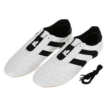 Alomejor Taekwondo Zapatos Transpirables Deporte Boxeo Kung Fu Taichi Zapatos Ligeros para Adultos y Niños: Amazon.es: Deportes y aire libre