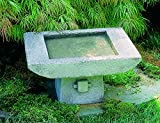 Campania International B-068-GS 1-Piece Kyoto Birdbath, Greystone