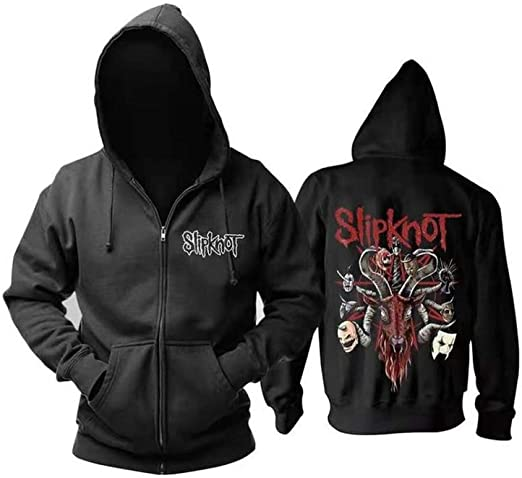 Children Slipknot Commemorate Hoodie United States Heavy Metal New Wave Rock Band Hooded Pullover Spring Autumn Printing Velvet Casual Jacket Black-S