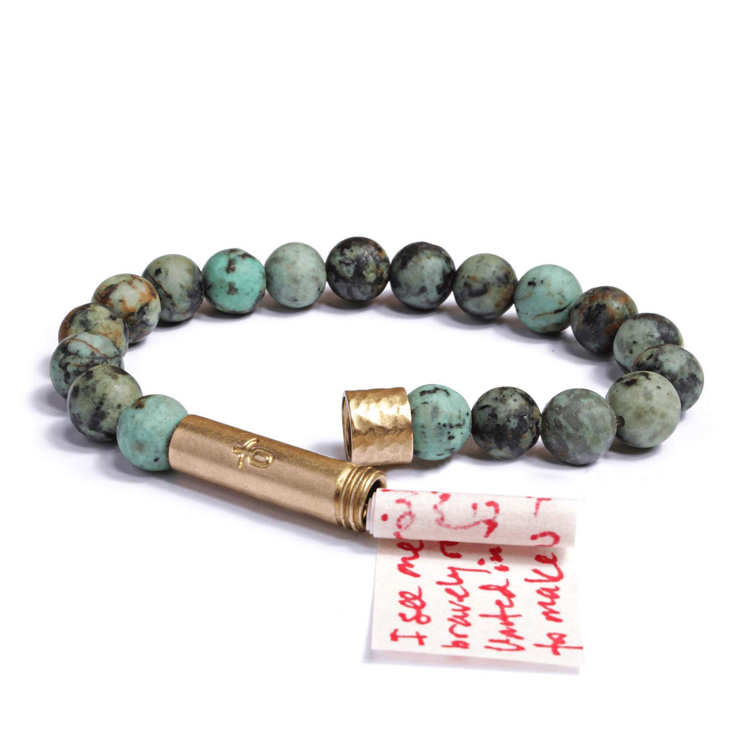 Wishbeads Bracelet (Matte African Turquoise) by Wishbeads