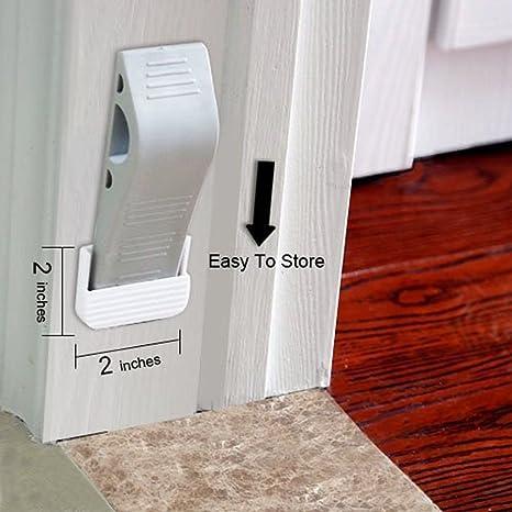 Door Stop Wedge, Invool Rubber Grey Door Stopper With Holders For Tiles,  Carpet, Wood, Gement And Laminate Floors ...