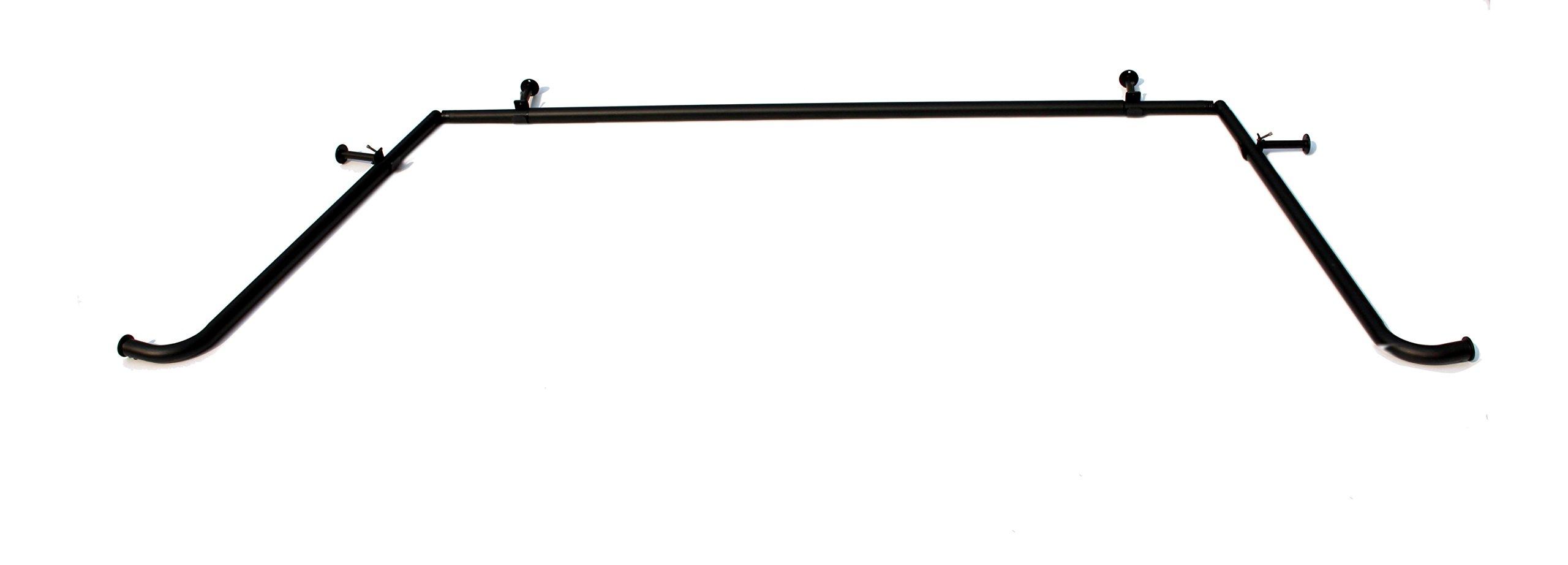 Urbanest Black Bay Window Curtain Rod Set, 1-inch by Urbanest (Image #3)