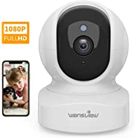 Wansview Home Camera, Wireless Security Camera 1080P HD, WiFi IP Camera for Pet/Baby/Nanny, Motion Detection, 2 Way Audio, Night Vision, Works with Alexa Echo Show, with TF Card Slot and Cloud