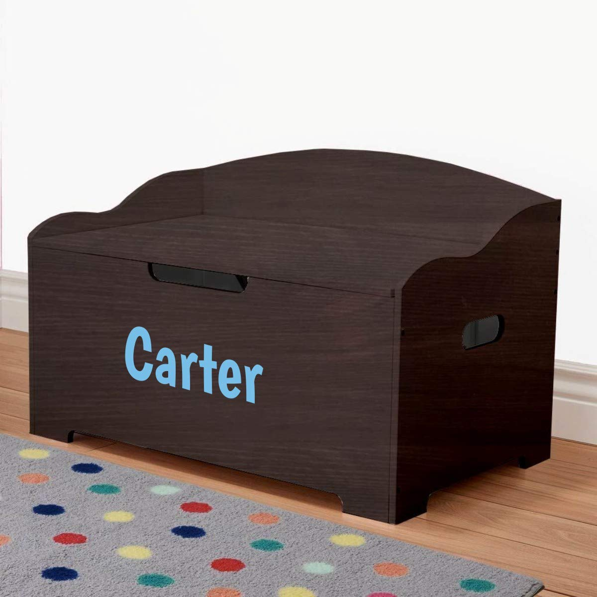 Personalized Dibsies Modern Expressions Toy Box - Espresso (Signature Series - Boys) by DIBSIES Personalization Station