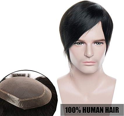 Elailite® Pelucas Hombre Pelo Natural Protesis Capilar Hombre ...