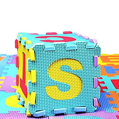 per 36pcs Colorful Foam Play Mat Puzzle Alphabet&Number Crawling Mat for Kids Toddlers : Baby