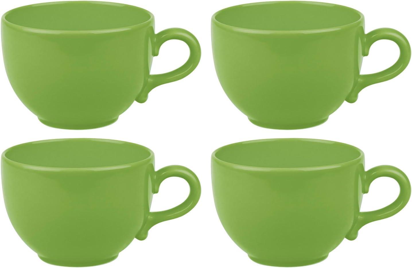 Faszination-Wohnen Jumbotasse 600ml Suppentasse Jumbo Tasse Kaffeetasse Lemon Gr/ün