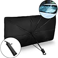 GEMWON Car Sun Shade for Front Windshield, Foldable Car Front Windshield Sun Shield, Car Sunshade Cover UV Block Car…