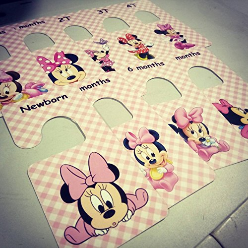 M&D Stickers Baby clothes closet dividers. Minnie Mouse. Newborn - 4T. CHD000006]()