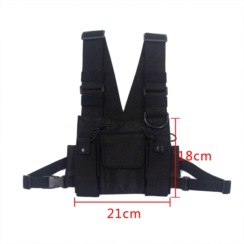 Fashion Nylon Canvas Chest Rig Bag Black Vest Hip Streetwear Tactical Bag Best