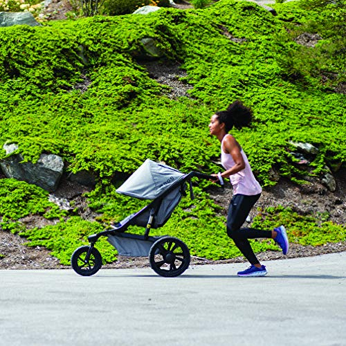 61mDFPhKWtL - BOB Gear Alterrain Jogging Stroller | Quick Fold + Adjustable Handlebar + XL UPF 50+ Canopy, Melange Black