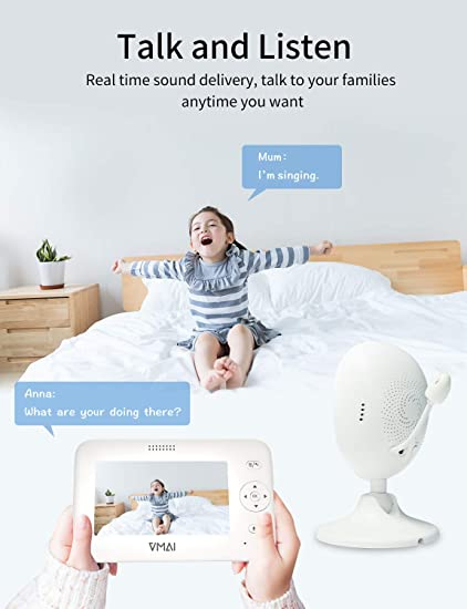 "Amazon.com: Video Baby Monitor, 4.3"" Baby Monitor with ..."