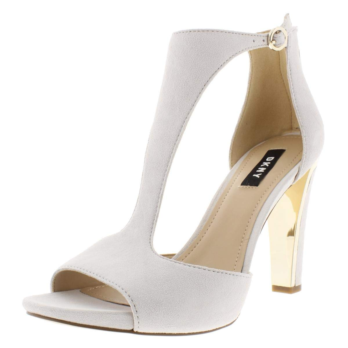 391c51681b4 Amazon.com | DKNY Womens Colby Suede Ankle Strap Heels Ivory 6.5 ...