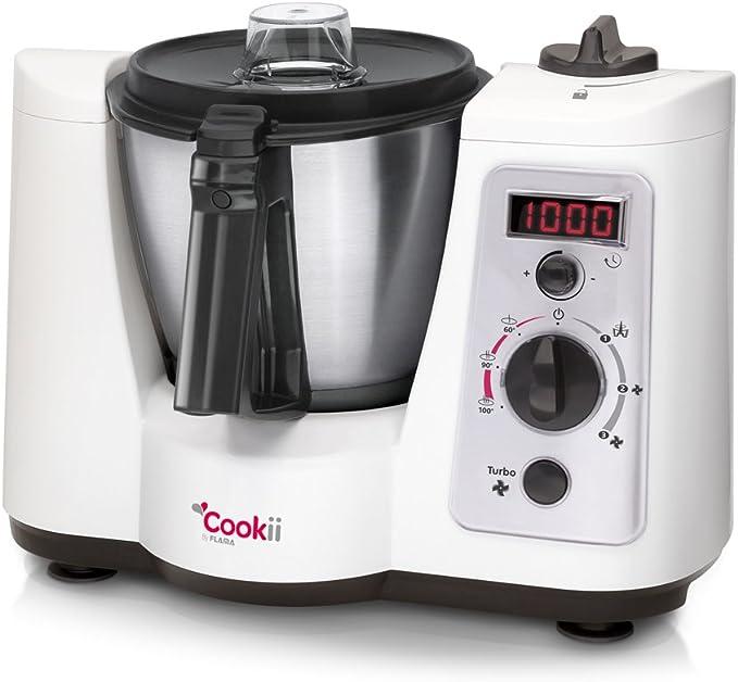 Flama 2170FL 500W 1.5L Blanco - Robot de cocina (1,5 L, Blanco, Botones, Giratorio, 7200 RPM, 1 m, 60 min): Amazon.es: Hogar