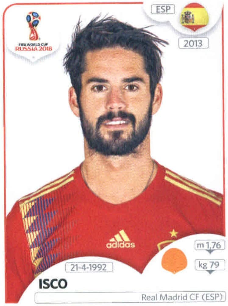 2018 Panini World Cup Stickers Russia #141 Sergio Busquets Spain Soccer Sticker