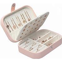 Cofunia Caja de Almacenamiento de Organizador de Caja de joyería, Caja de joyería de Viaje para Collar, Relojes, Pendientes, Organizador de joyería de Doble Capa para Mujeres Damas