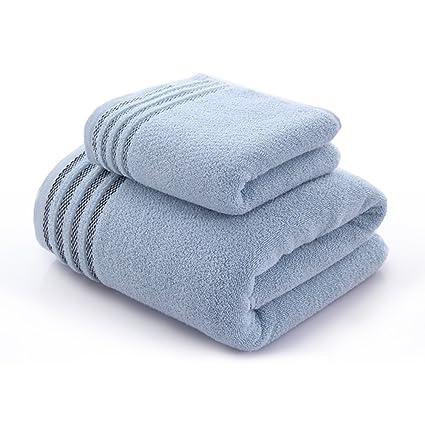 Toalla de baño suave 1 toalla +1 traje de toalla Juegos de algodón de toallas ...