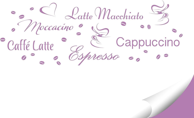 Grandora Wandtattoo Kaffeesorten I Taupe Kreativset I Kaffee Kaffeebohnen Kaffeetasse K/üche Esszimmer Aufkleber Wandaufkleber Wandsticker Sticker W3047