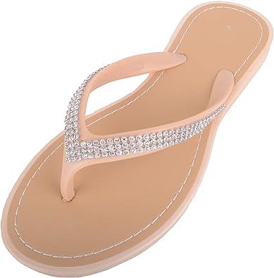 Style Diamante Flip Flops/Sandals/Mules
