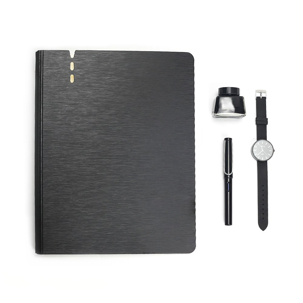 Zhi Jin 80Pockets Presentation Book Protector A4 Thick File Presentation Display Folders Inserts 160Pages for Music Sheets Office Report Black